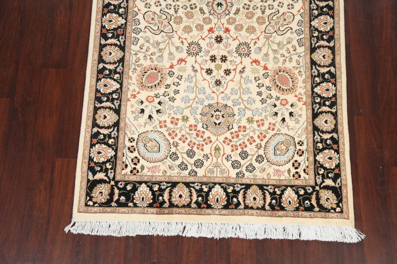 Vegetable Dye Floral Tabriz Oriental Area Rug 4x7 image 5