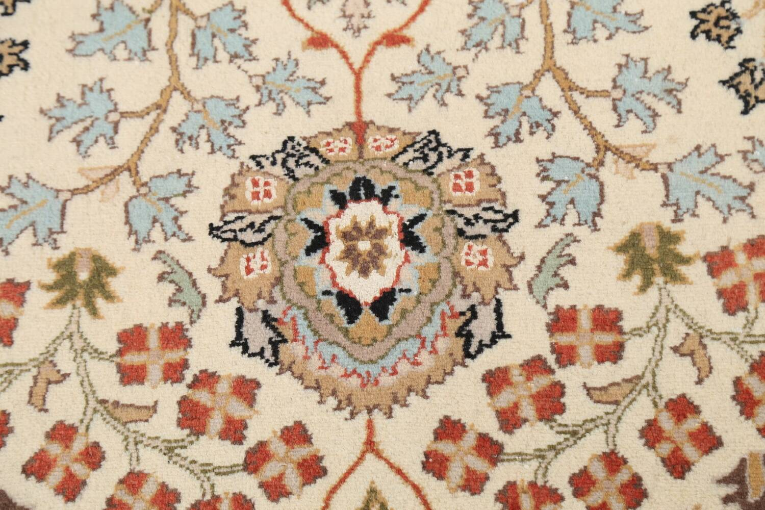 Vegetable Dye Floral Tabriz Oriental Area Rug 4x7 image 8