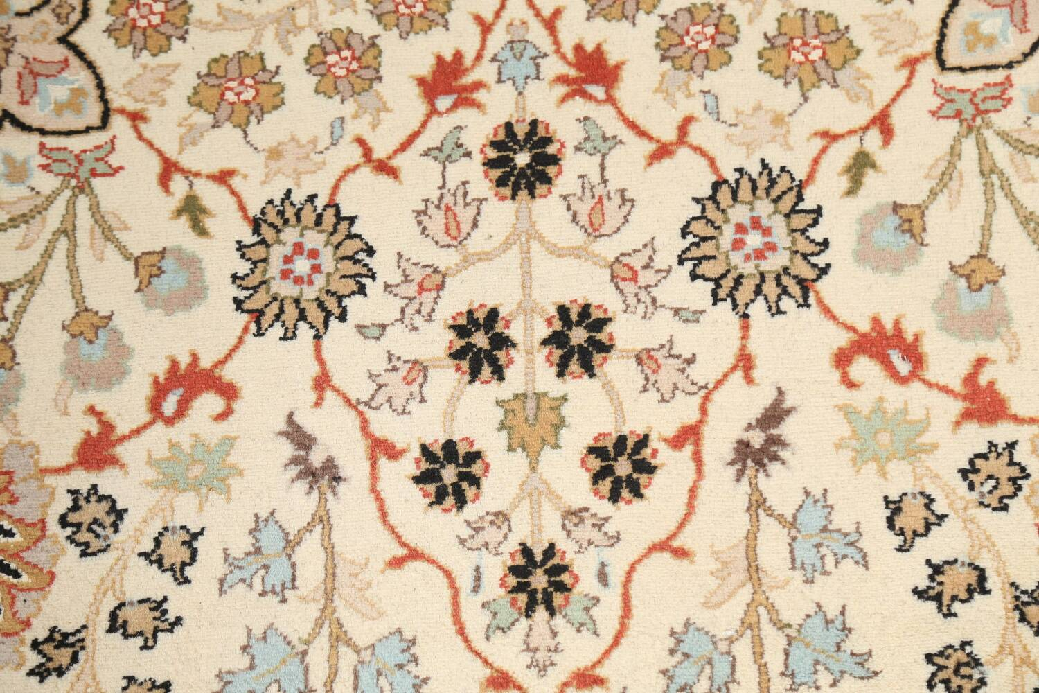 Vegetable Dye Floral Tabriz Oriental Area Rug 4x7 image 9