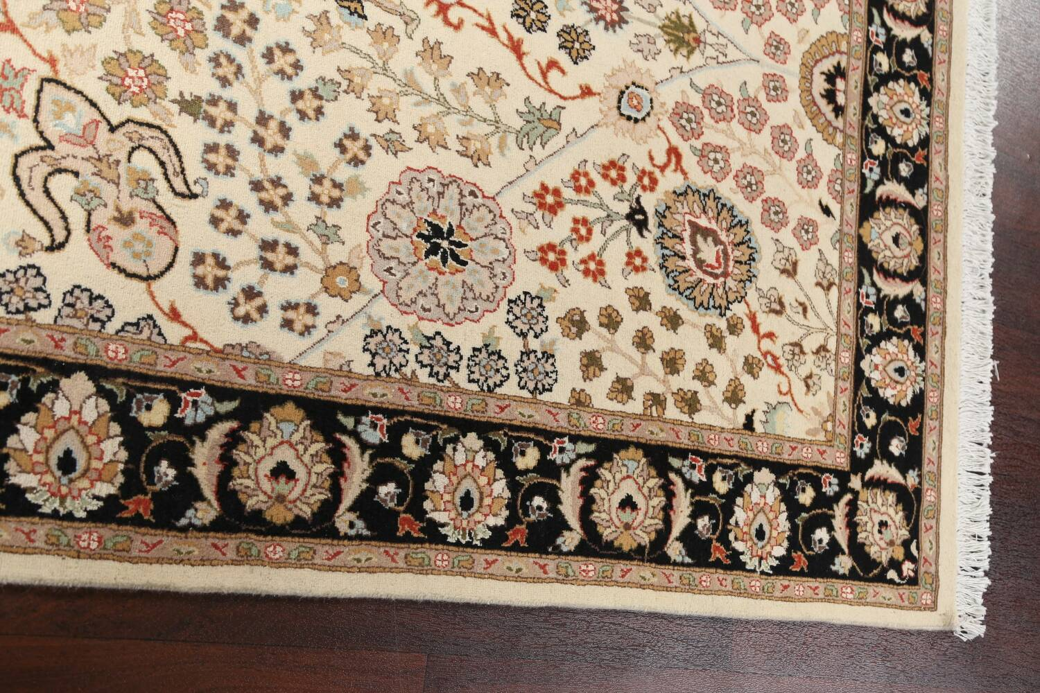 Vegetable Dye Floral Tabriz Oriental Area Rug 4x7 image 11