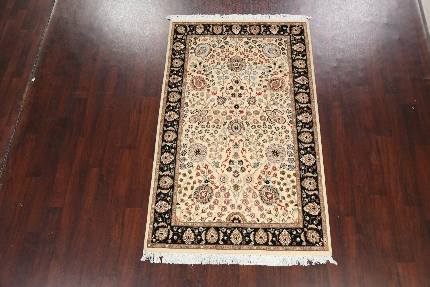 Vegetable Dye Floral Tabriz Oriental Area Rug 4x7 image 12