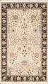 Vegetable Dye Floral Tabriz Oriental Area Rug 4x7 image 1