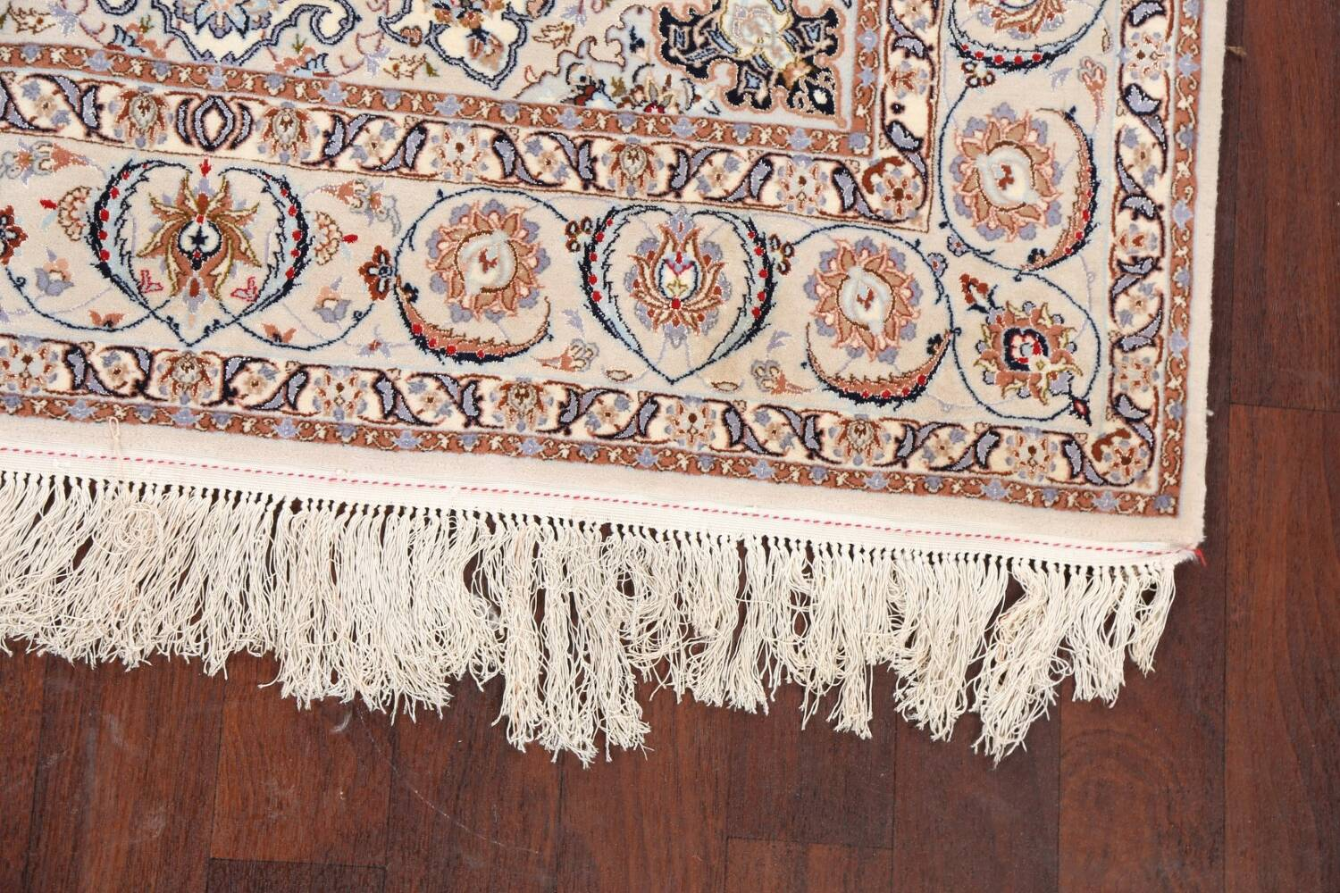 100% Vegetable Dye Floral Isfahan Persian Area Rug 5x8 image 6