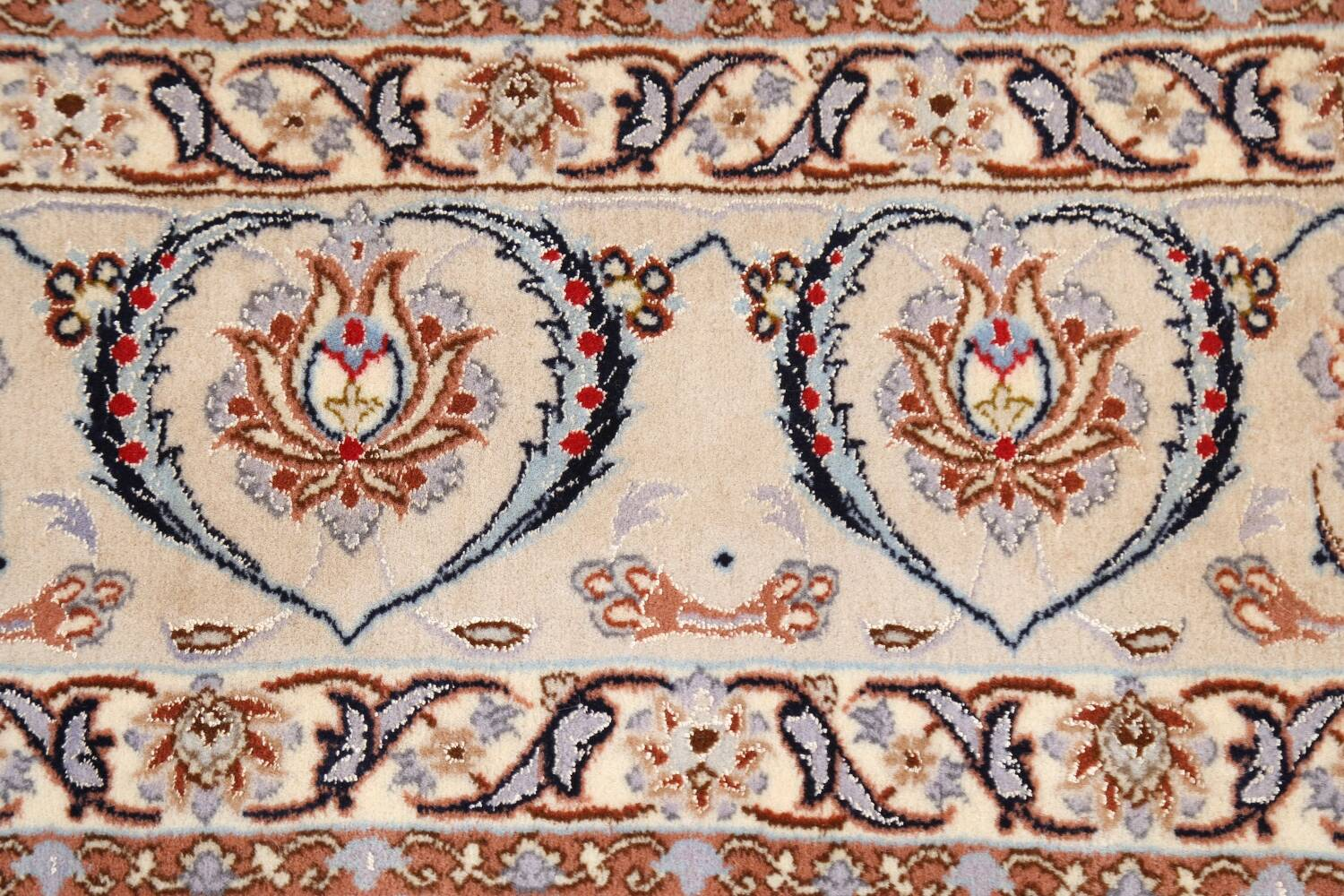 100% Vegetable Dye Floral Isfahan Persian Area Rug 5x8 image 8