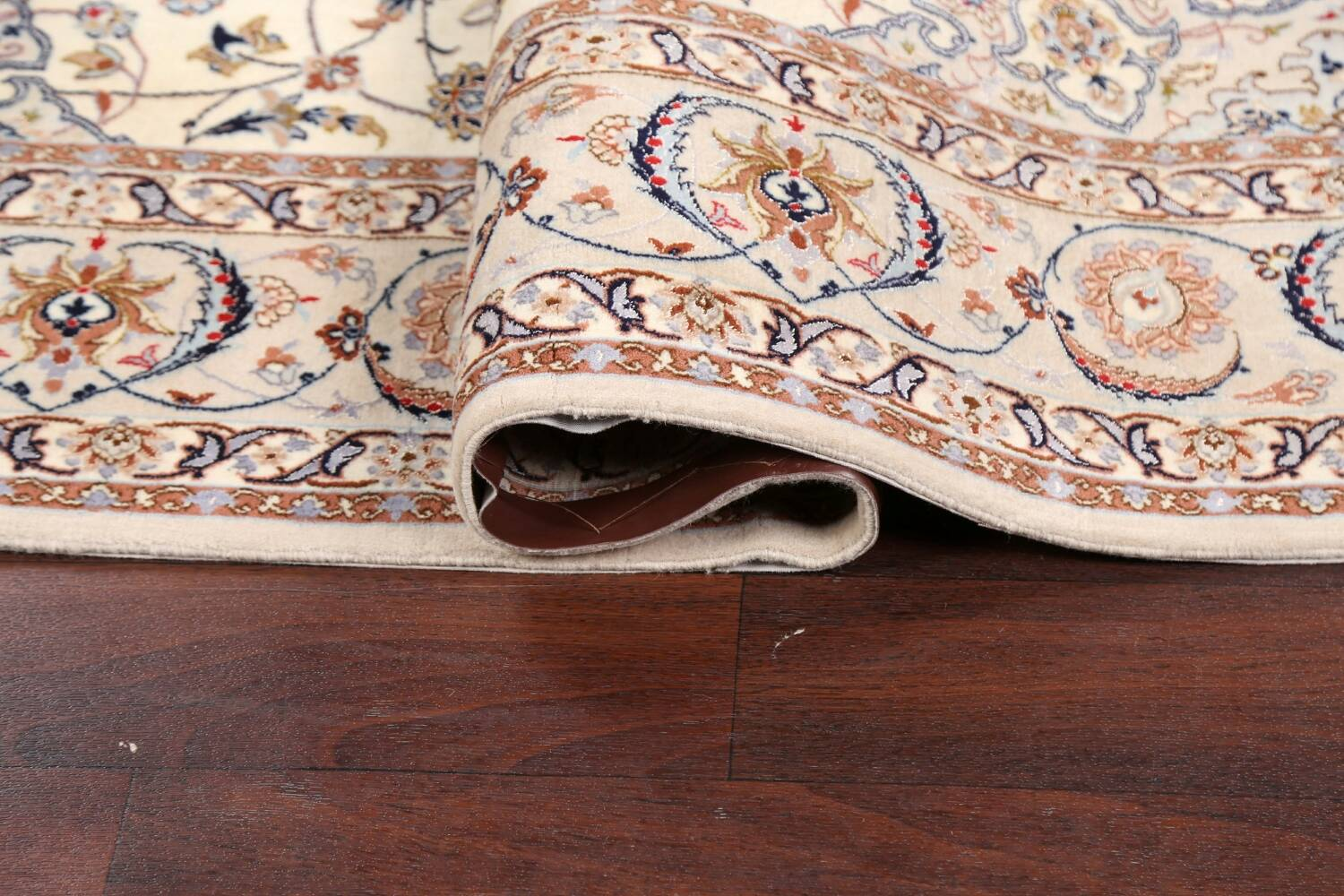 100% Vegetable Dye Floral Isfahan Persian Area Rug 5x8 image 11