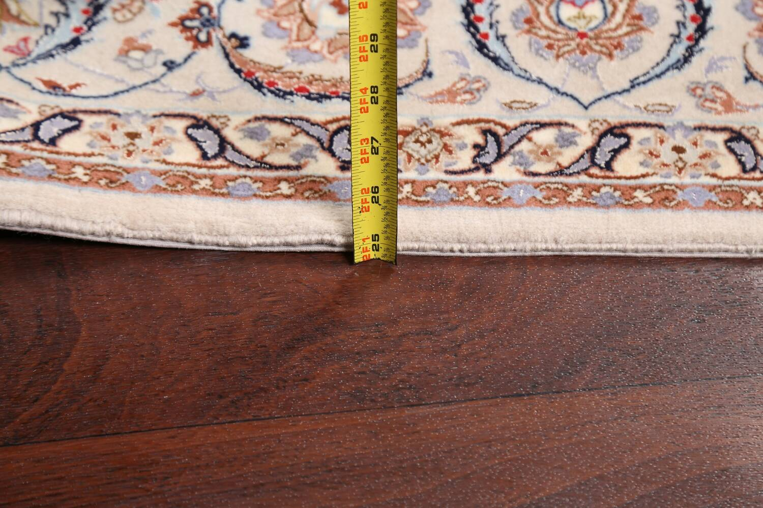 100% Vegetable Dye Floral Isfahan Persian Area Rug 5x8 image 18