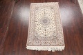 100% Vegetable Dye Floral Isfahan Persian Area Rug 5x8 image 2