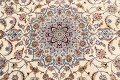 100% Vegetable Dye Floral Isfahan Persian Area Rug 5x8 image 9