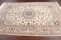 100% Vegetable Dye Floral Isfahan Persian Area Rug 5x8 image 13