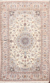 100% Vegetable Dye Floral Isfahan Persian Area Rug 5x8 image 1