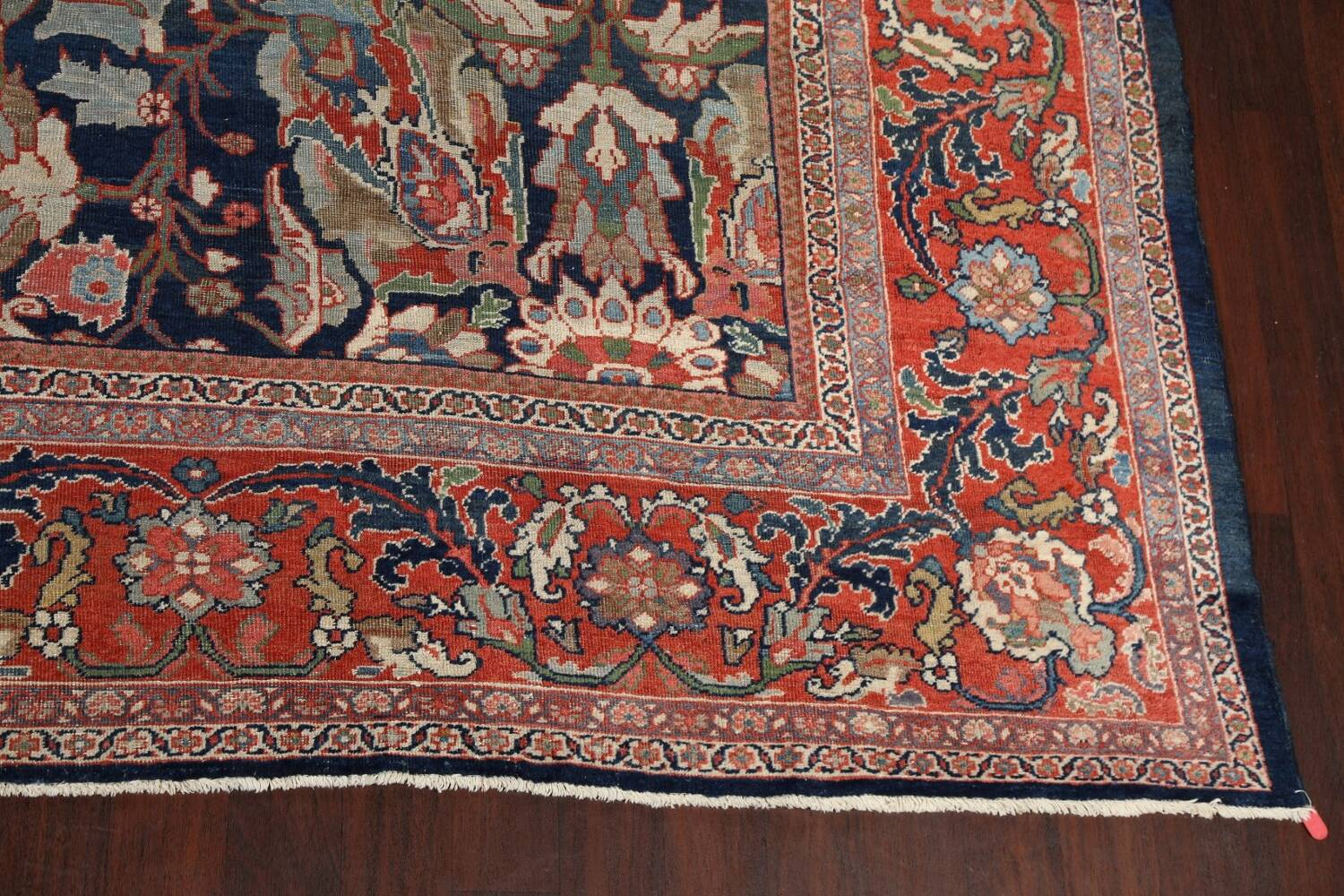 Pre-1900 Antique Vegetable Dye Sultanabad Persian Rug 12x16 image 6