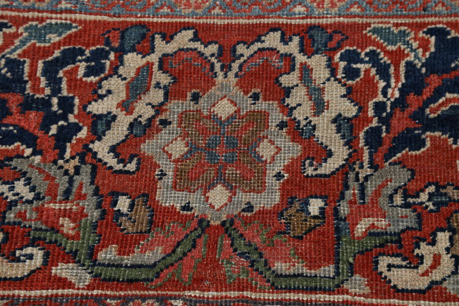Pre-1900 Antique Vegetable Dye Sultanabad Persian Rug 12x16 image 8