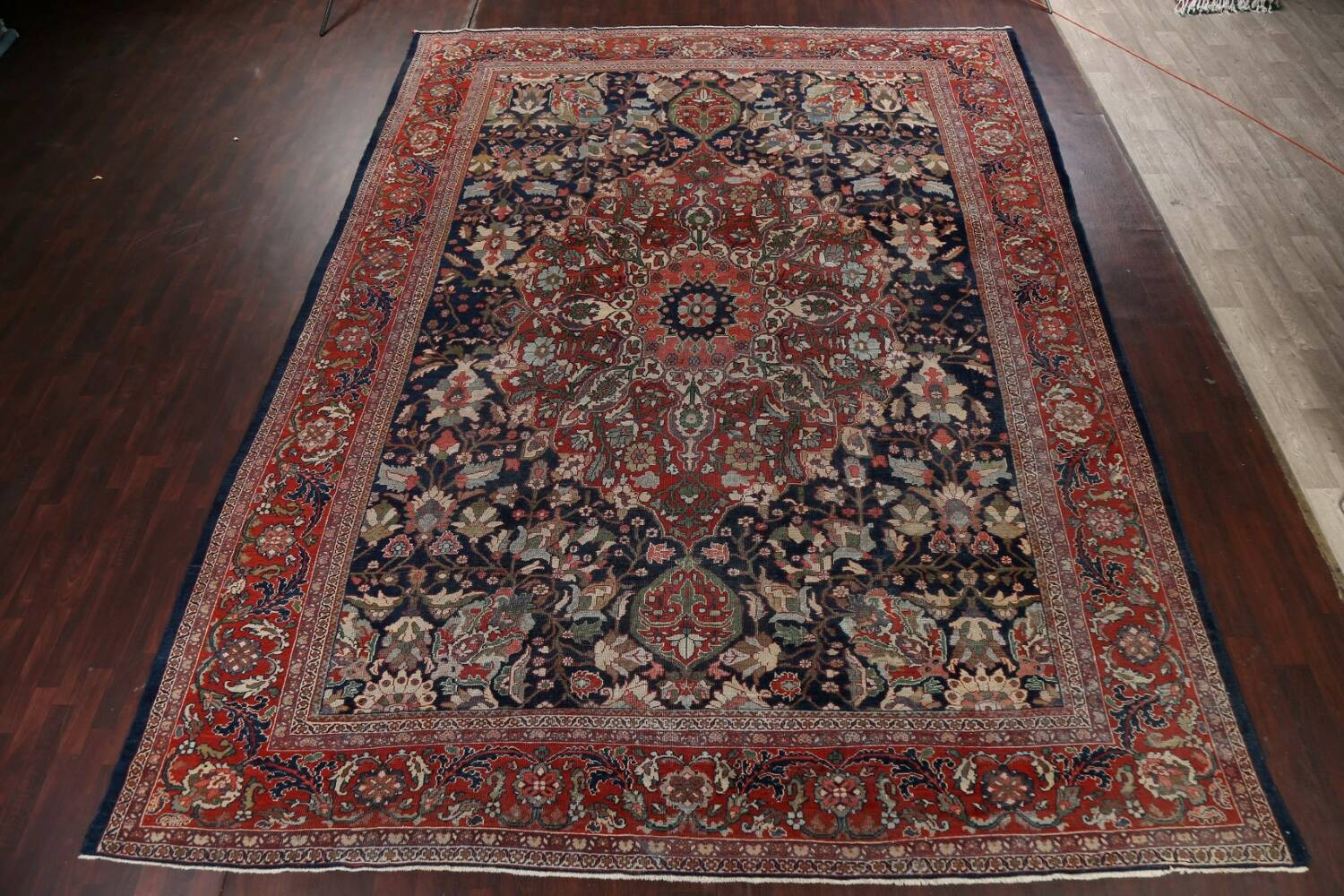Pre-1900 Antique Vegetable Dye Sultanabad Persian Rug 12x16 image 16