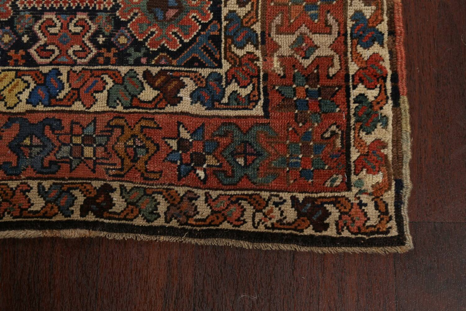 Pre-1900 Antique Vegetable Dye Kazak Oriental Runner Rug 3x11 image 6