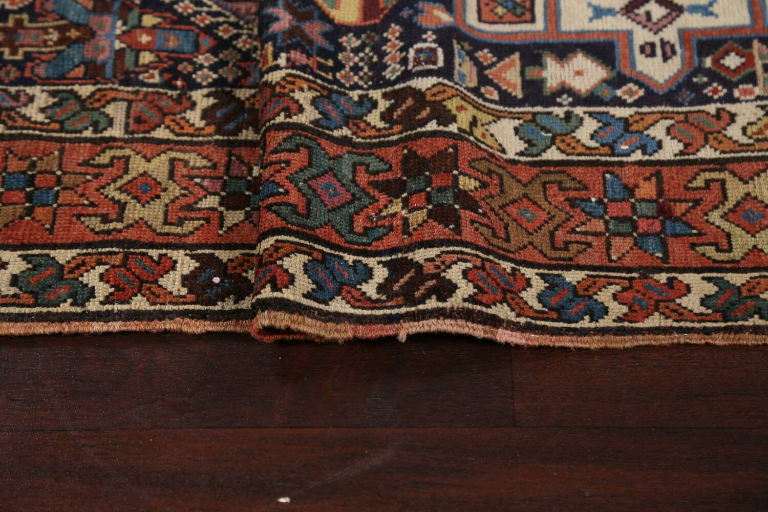 Pre-1900 Antique Vegetable Dye Kazak Oriental Runner Rug 3x11 image 10