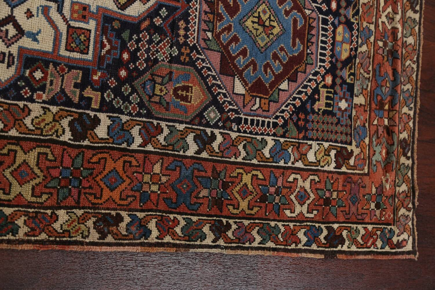 Pre-1900 Antique Vegetable Dye Kazak Oriental Runner Rug 3x11 image 11