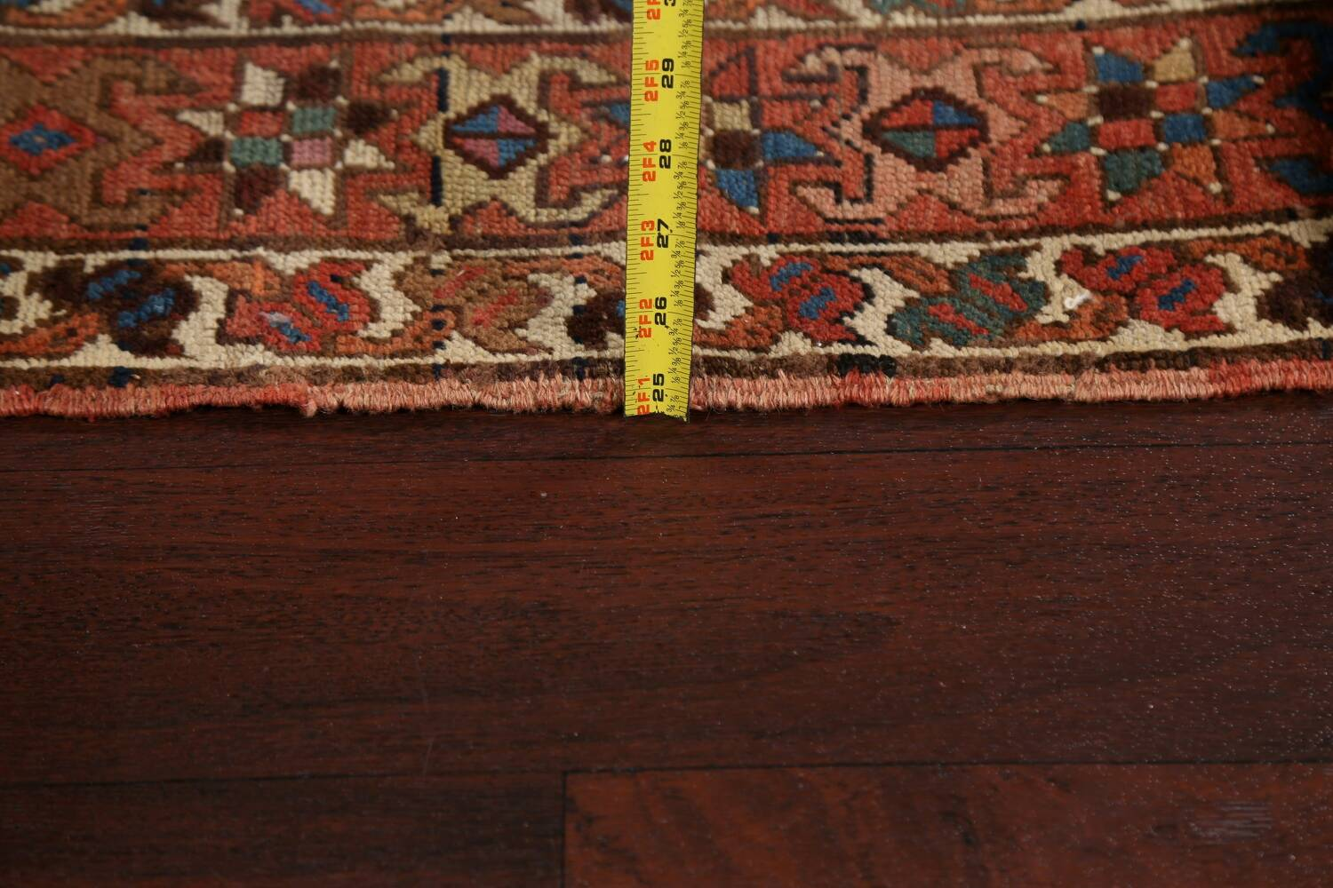 Pre-1900 Antique Vegetable Dye Kazak Oriental Runner Rug 3x11 image 16
