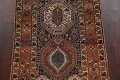 Pre-1900 Antique Vegetable Dye Kazak Oriental Runner Rug 3x11 image 4