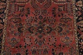 Antique Vegetable Dye Floral Sarouk Persian Area Rug 4x7 image 4