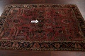 Antique Vegetable Dye Floral Sarouk Persian Area Rug 4x7 image 11
