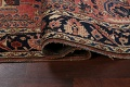 Antique Vegetable Dye Floral Sarouk Persian Area Rug 4x7 image 12