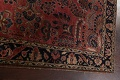 Antique Vegetable Dye Floral Sarouk Persian Area Rug 4x7 image 13