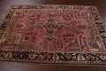Antique Vegetable Dye Floral Sarouk Persian Area Rug 4x7 image 14