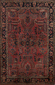 Antique Vegetable Dye Floral Sarouk Persian Area Rug 4x7 image 1