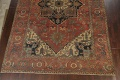 Pre-1900 Antique Vegetable Dye Heriz Serapi Persian Area Rug 12x18 image 5