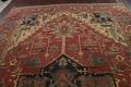 Pre-1900 Antique Vegetable Dye Heriz Serapi Persian Area Rug 12x18 image 10