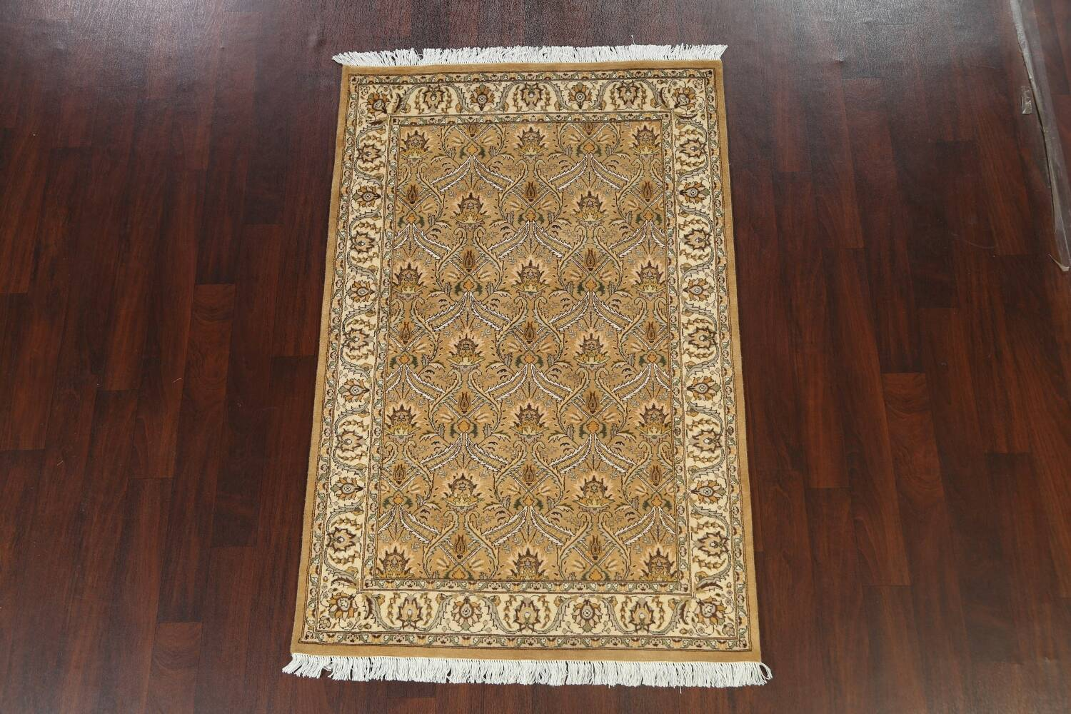 100% Vegetable Dye Floral Tabriz Oriental Area Rug 4x6 image 13