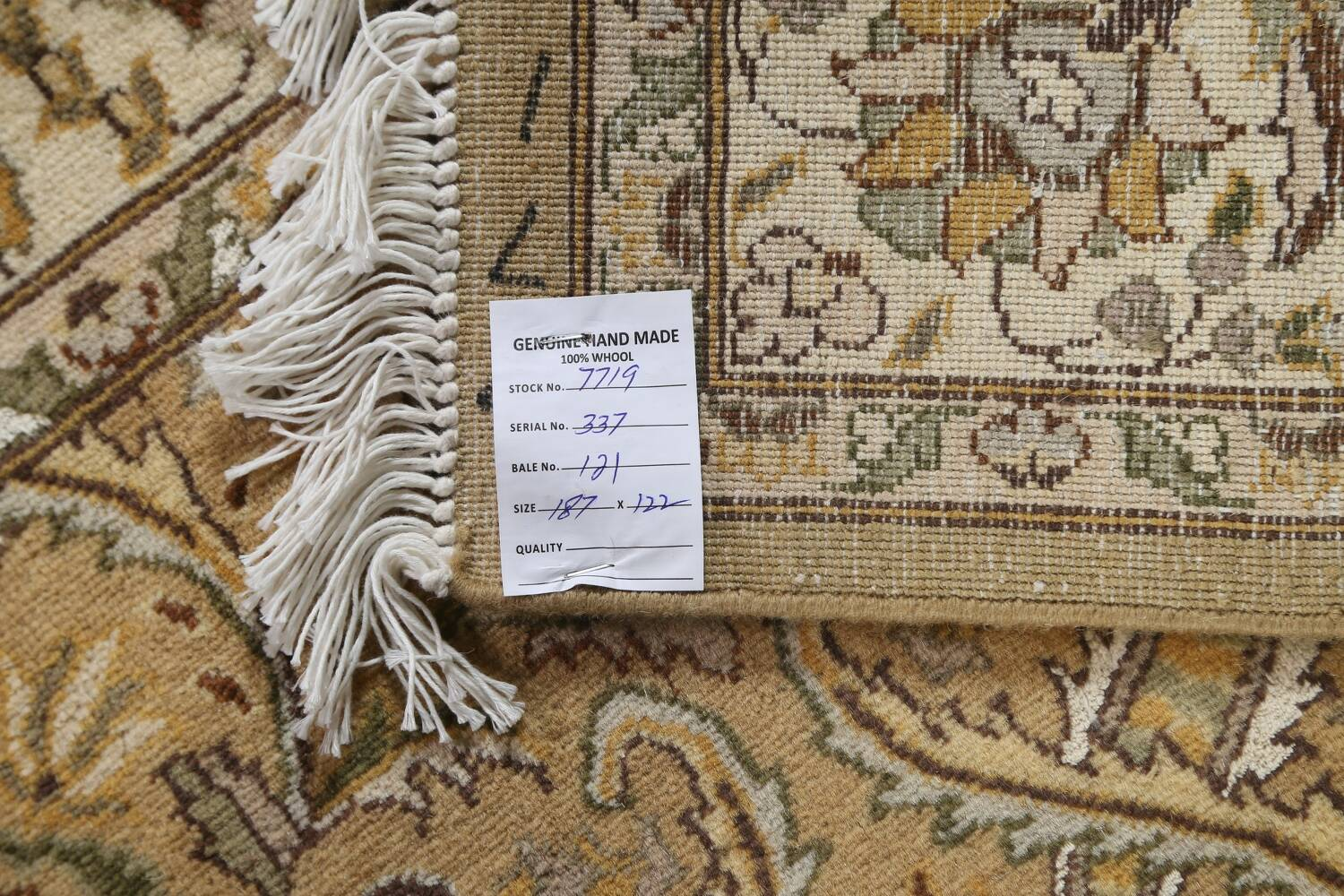 100% Vegetable Dye Floral Tabriz Oriental Area Rug 4x6 image 18