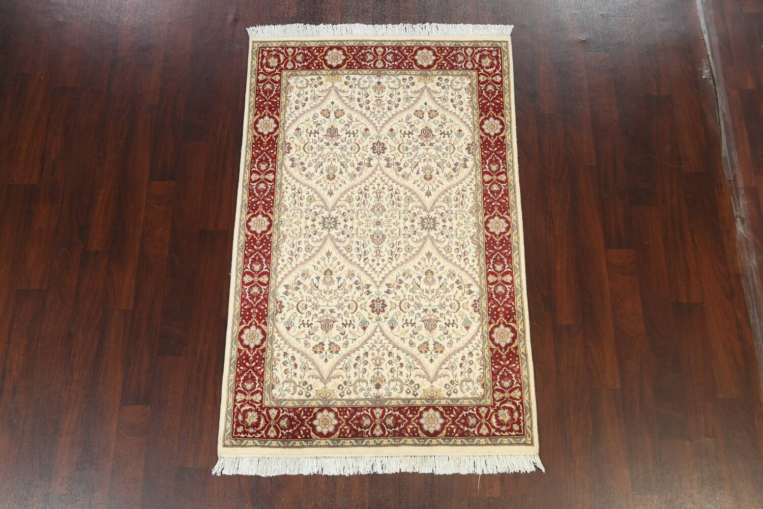 100% Vegetable Dye Floral Tabriz Oriental Area Rug 4x6 image 2