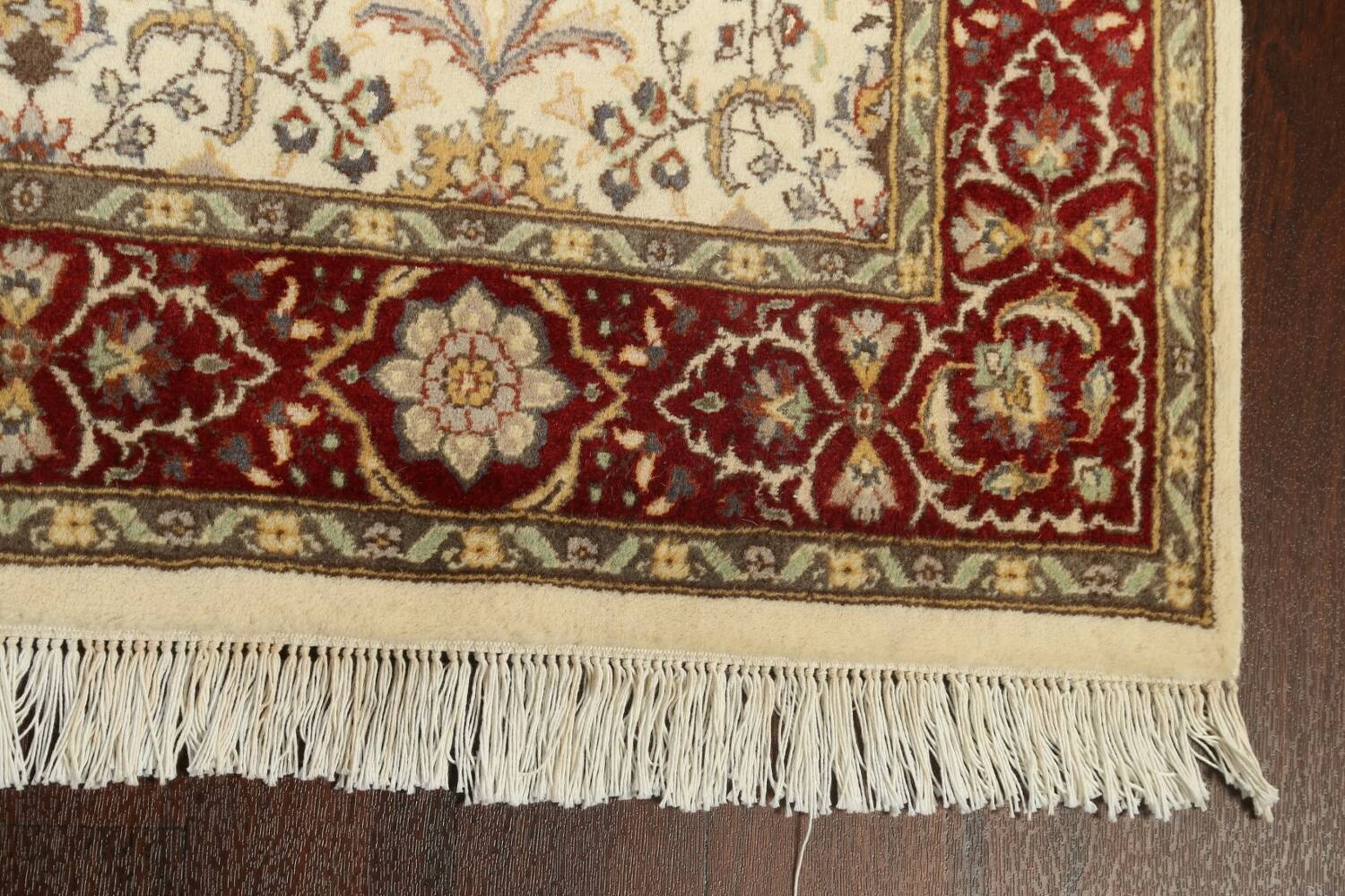 100% Vegetable Dye Floral Tabriz Oriental Area Rug 4x6 image 6