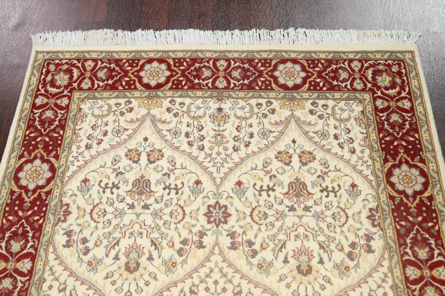 100% Vegetable Dye Floral Tabriz Oriental Area Rug 4x6 image 9