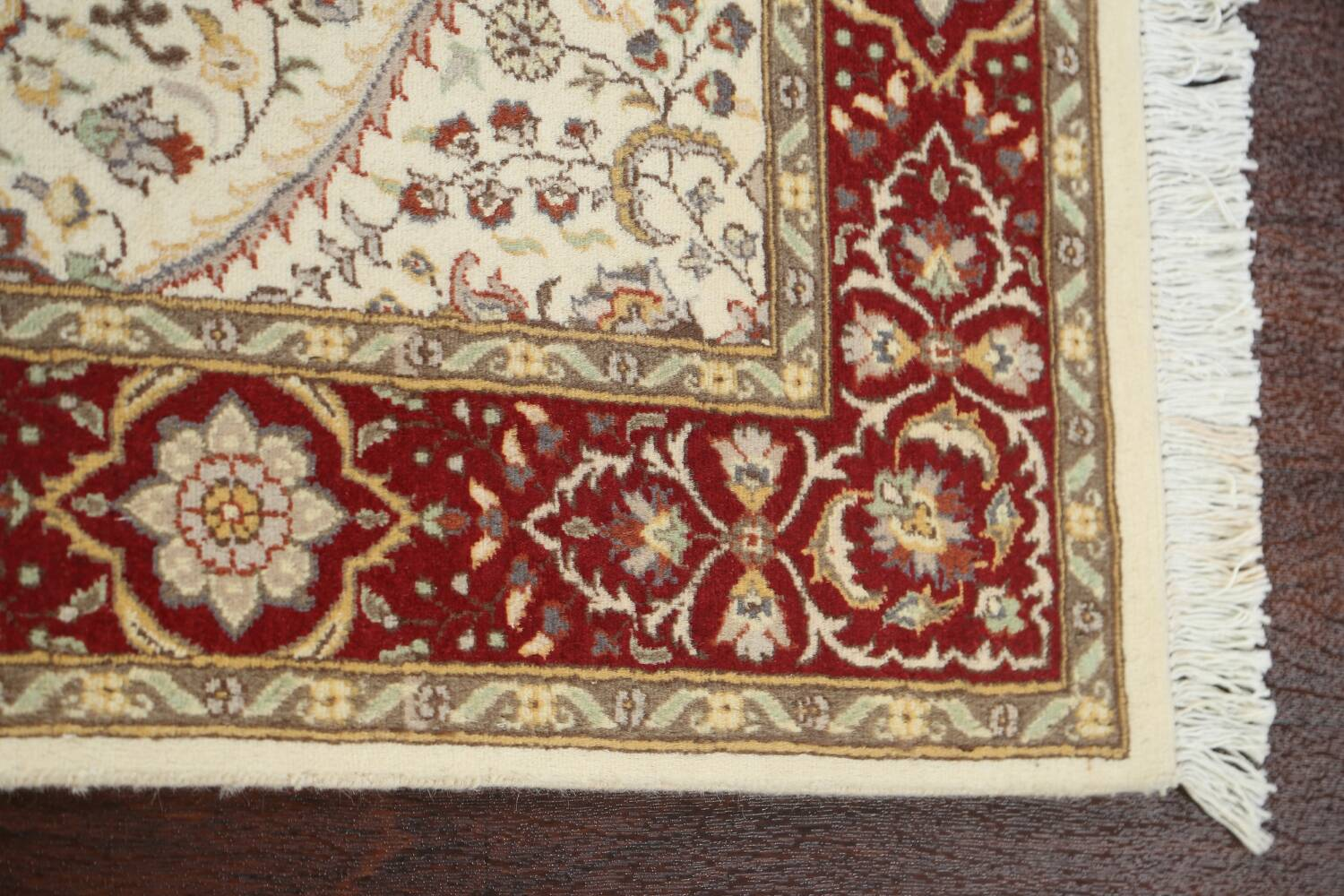 100% Vegetable Dye Floral Tabriz Oriental Area Rug 4x6 image 10
