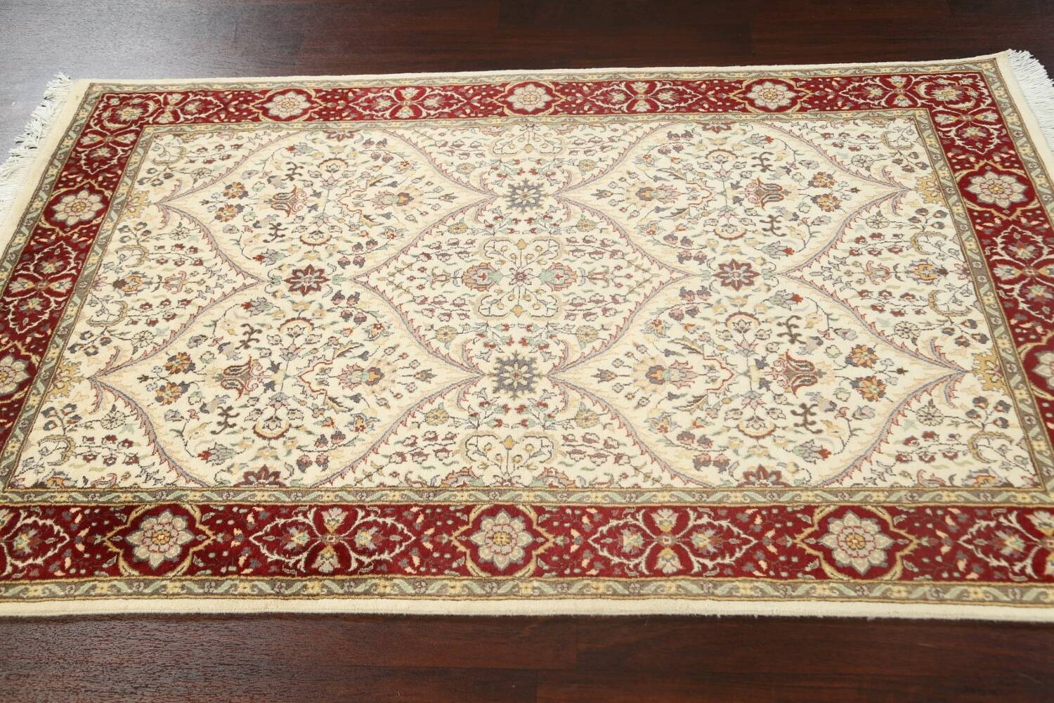 100% Vegetable Dye Floral Tabriz Oriental Area Rug 4x6 image 12