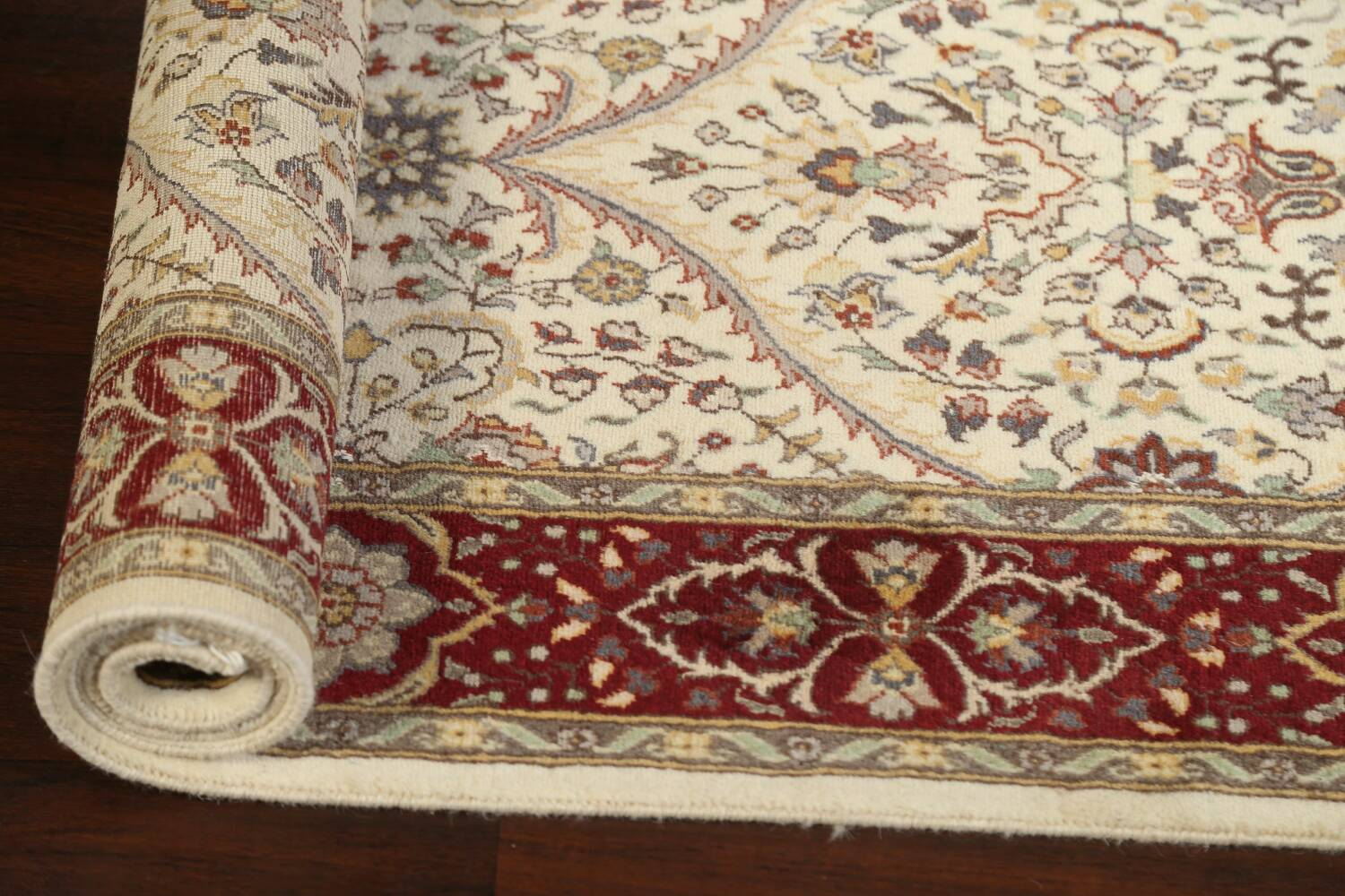100% Vegetable Dye Floral Tabriz Oriental Area Rug 4x6 image 14