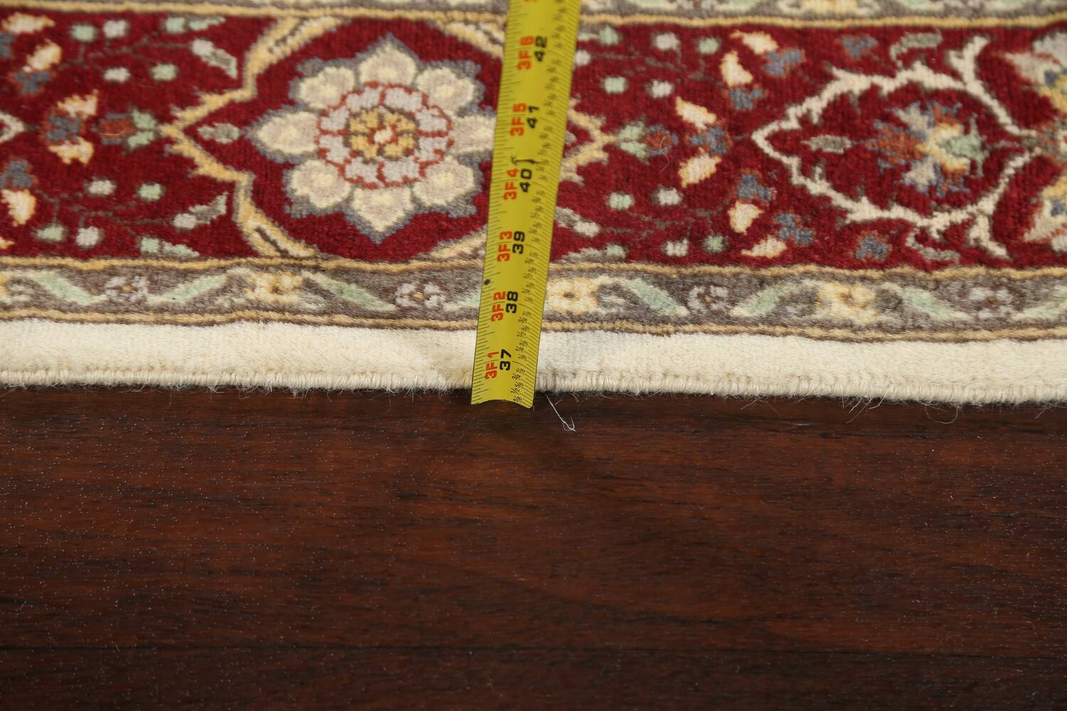 100% Vegetable Dye Floral Tabriz Oriental Area Rug 4x6 image 16