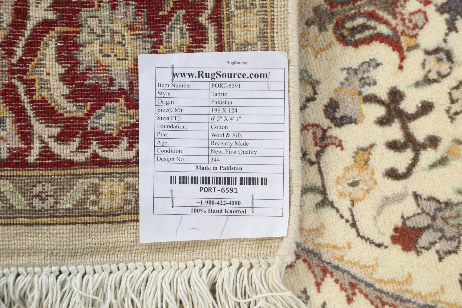 100% Vegetable Dye Floral Tabriz Oriental Area Rug 4x6 image 19
