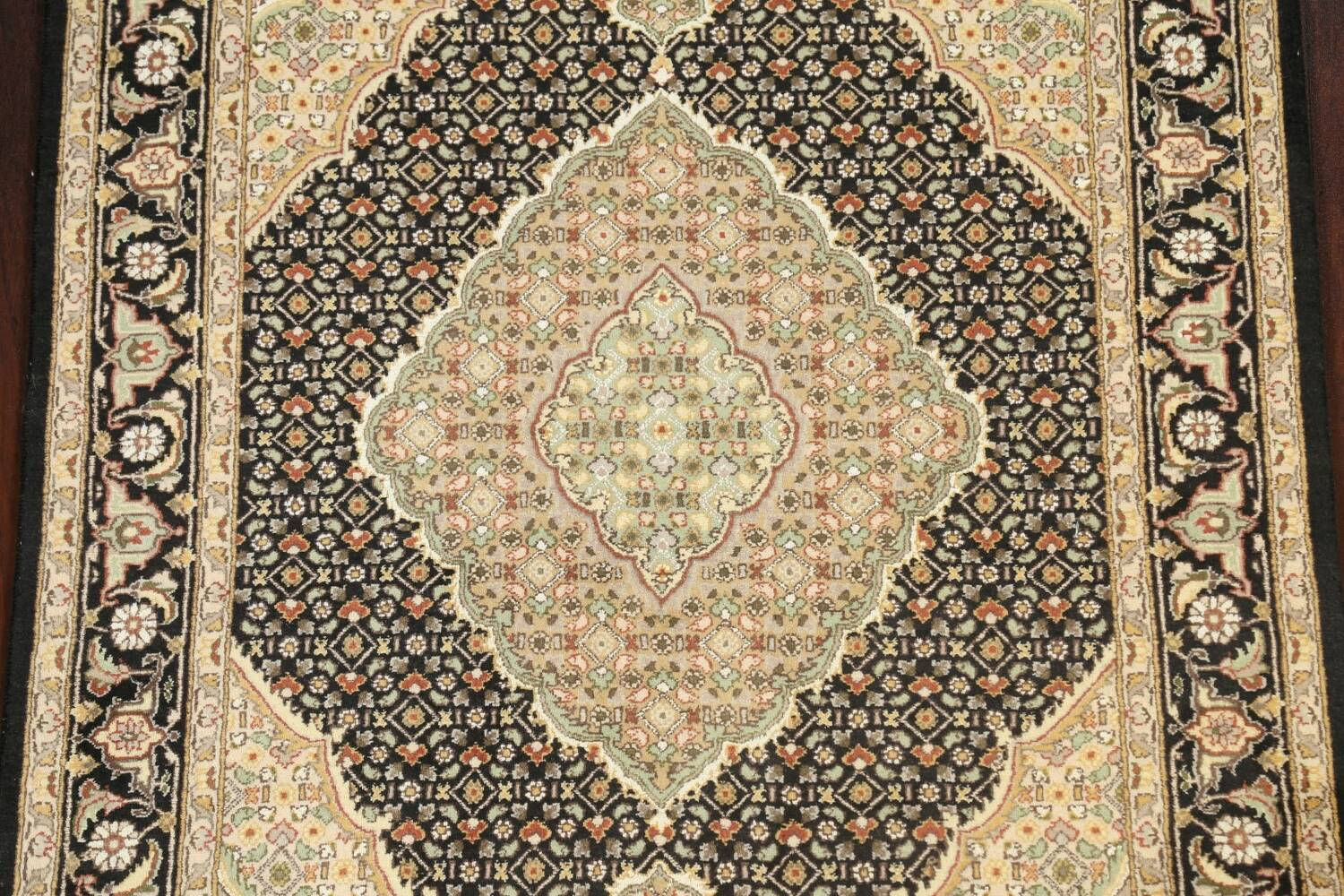 100% Vegetable Dye Tabriz Mahi Oriental Area Rug 4x6 image 4