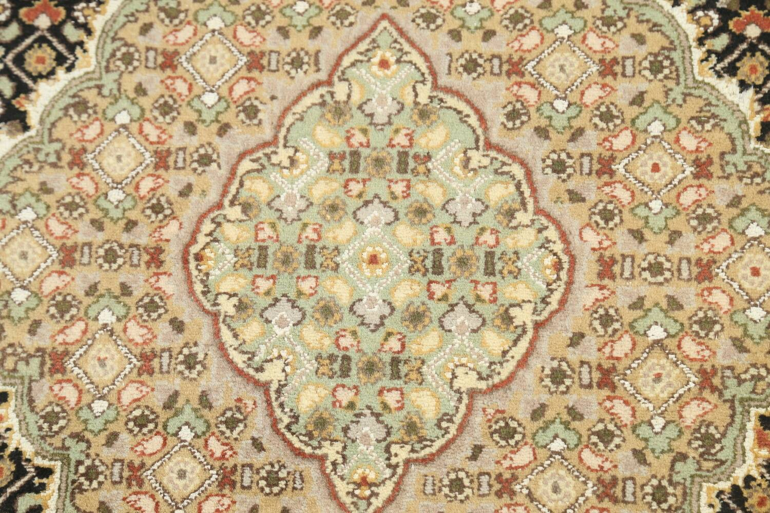 100% Vegetable Dye Tabriz Mahi Oriental Area Rug 4x6 image 8