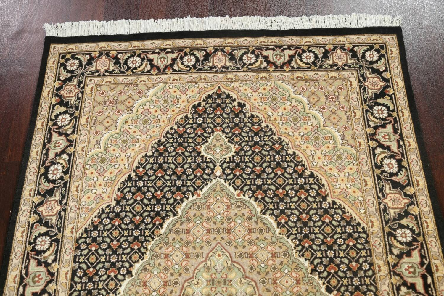 100% Vegetable Dye Tabriz Mahi Oriental Area Rug 4x6 image 9