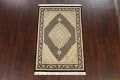 100% Vegetable Dye Tabriz Mahi Oriental Area Rug 4x6 image 2