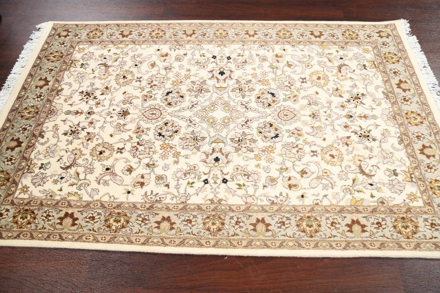 100% Vegetable Dye Floral Tabriz Oriental Area Rug 4x6 image 11