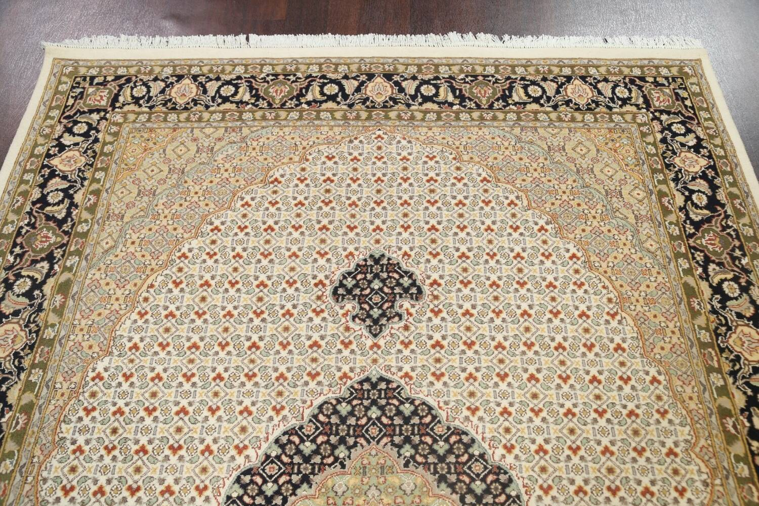 100% Vegetable Dye Tabriz Mahi Oriental Area Rug 6x9 image 9