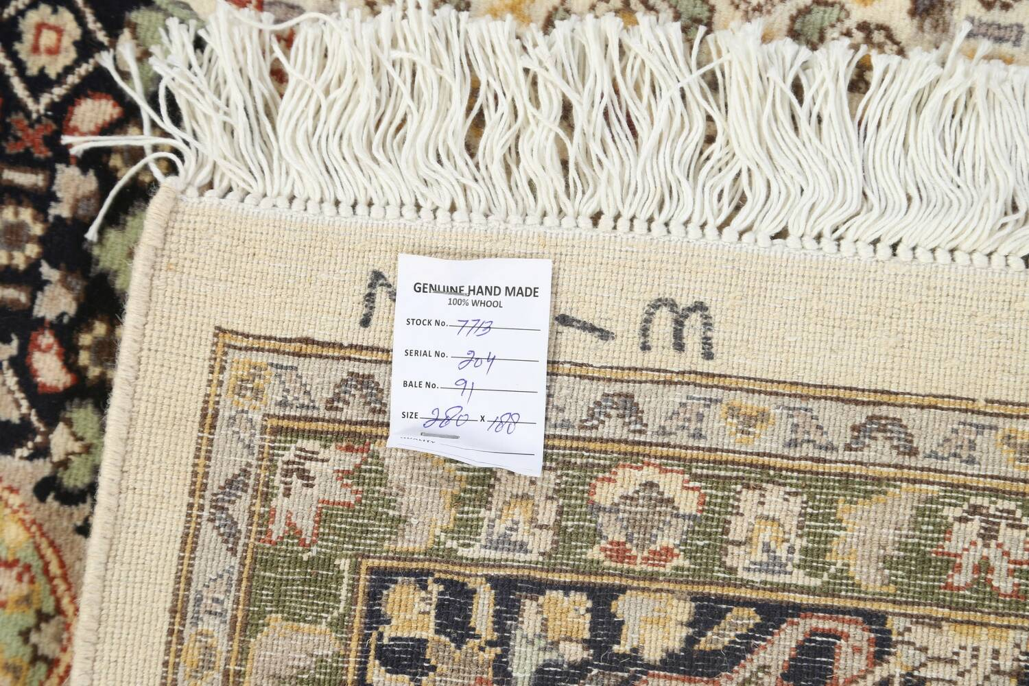 100% Vegetable Dye Tabriz Mahi Oriental Area Rug 6x9 image 19