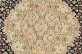 100% Vegetable Dye Tabriz Mahi Oriental Area Rug 6x9 image 8