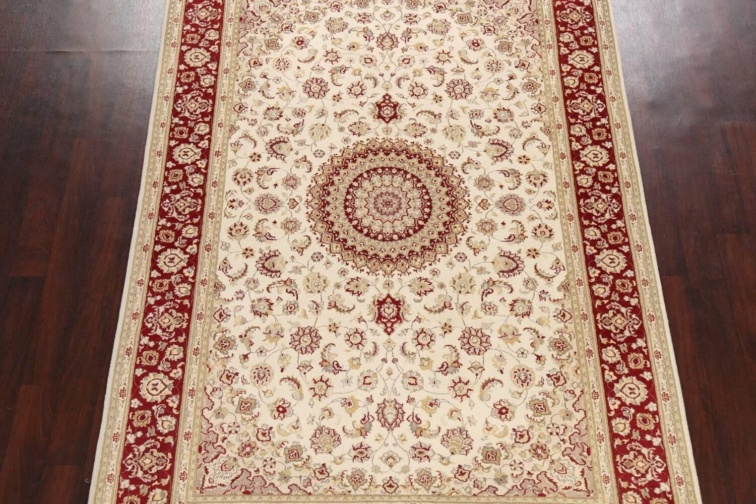 100% Vegetable Dye Floral Tabriz Oriental Area Rug 6x9 image 3