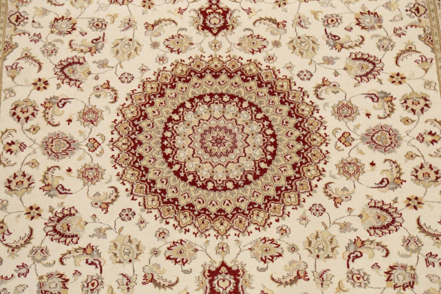 100% Vegetable Dye Floral Tabriz Oriental Area Rug 6x9 image 4